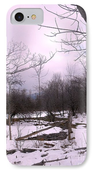 The Pink Winter Light On The Mountain Top Phone Case by Patricia Keller