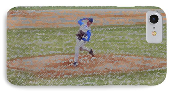 The Pitcher Digital Art Phone Case by Thomas Woolworth