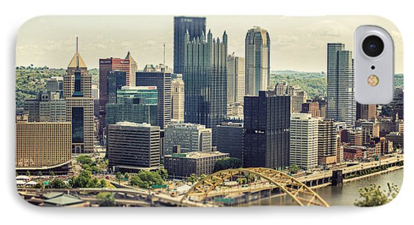 The Pittsburgh Skyline Phone Case by Lisa Russo