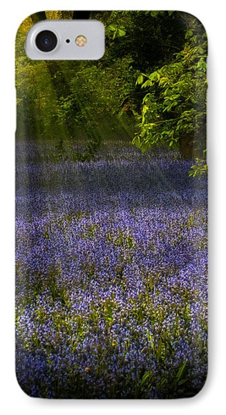 IPhone Case featuring the photograph The Pixie's Bluebell Patch by Chris Lord