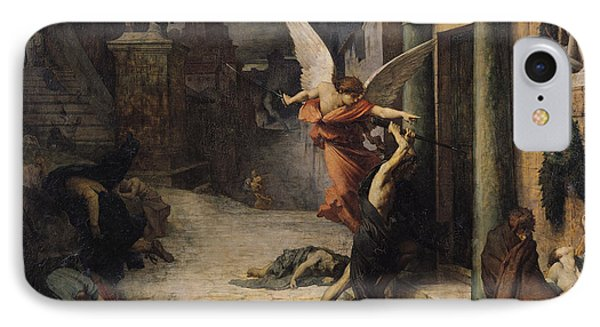The Plague In Rome, 1869 Oil On Canvas IPhone Case by Jules Elie Delaunay