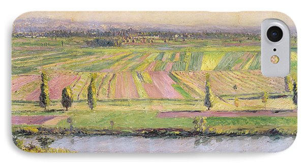 The Plain Of Gennevilliers From The Hills Of Argenteuil Phone Case by Gustave Caillebotte