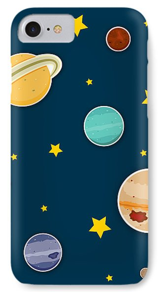 The Planets  IPhone Case by Christy Beckwith