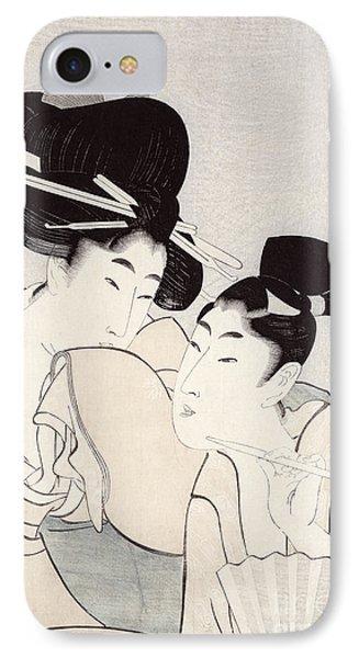 The Pleasure Of Conversation IPhone Case by Kitagawa Utamaro