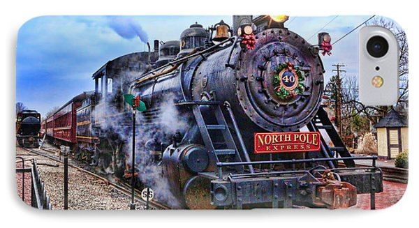 The Polar Express - Steam Locomotive II IPhone Case by Lee Dos Santos