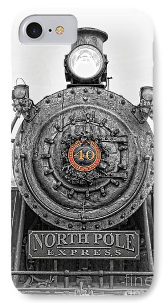 The Polar Express - Steam Locomotive Iv IPhone Case by Lee Dos Santos