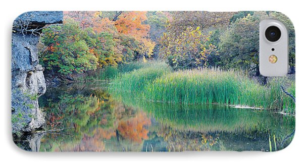 The Pond At Lost Maples State Natural Area - Texas Hill Country IPhone Case