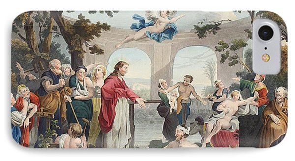 The Pool Of Bethesda, Illustration IPhone Case by William Hogarth