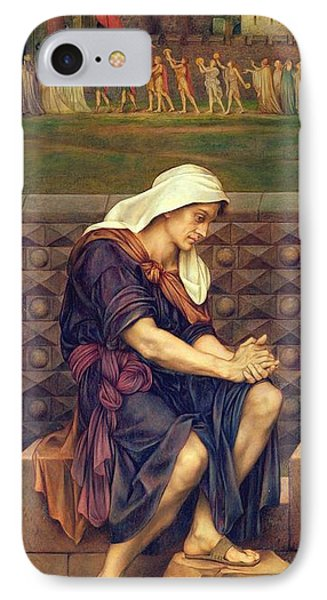 The Poor Man Who Saved The City Phone Case by Evelyn De Morgan