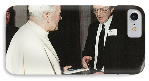 The Pope And Maurice Wilkins IPhone Case