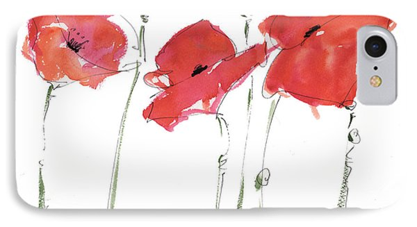 The Poppy Ladies IPhone Case by Kathleen McElwaine