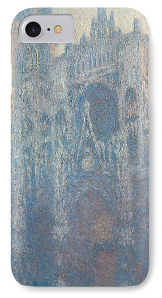 The Portal Of Rouen Cathedral In Morning Light Phone Case by Claude Monet