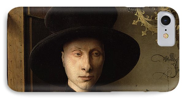 The Portrait Of Giovanni ? Arnolfini And His Wife Giovanna Cenami ? The Arnolfini Marriage 1434 Oil IPhone Case by Jan van Eyck