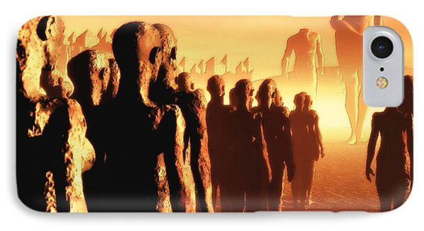 The Post Apocalyptic Gods IPhone Case by John Alexander