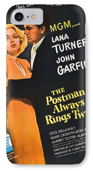 The Postman Always Rings Twice - 1946 IPhone Case by Georgia Fowler