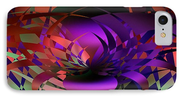 IPhone Case featuring the digital art the Potted Plant by rd Erickson