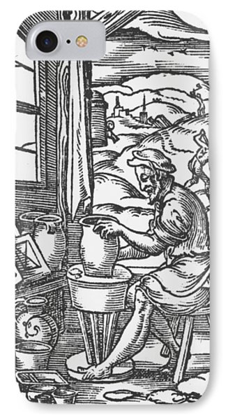 The Potter, 1574 IPhone Case by Jost Amman