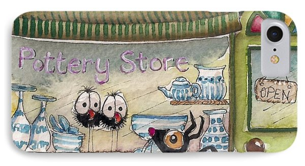 The Pottery Store Phone Case by Lucia Stewart