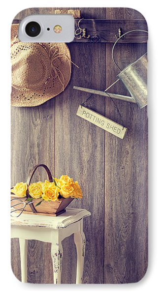 The Potting Shed IPhone Case by Amanda Elwell