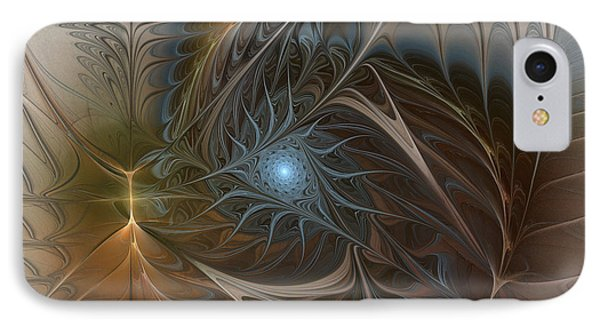 The Power Inside-abstract Fractal Art IPhone Case by Karin Kuhlmann