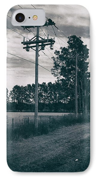 The Power Lines  IPhone Case by Howard Salmon