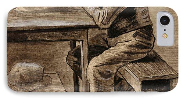 The Prayer Phone Case by Vincent Van Gogh