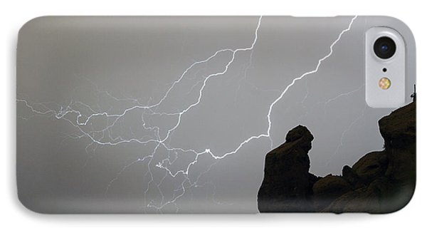 The Praying Monk Lightning Storm Chase IPhone Case by James BO  Insogna