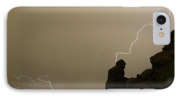The Praying Monk Lightning Strike Phone Case by James BO  Insogna