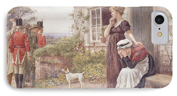 The Press Gang Phone Case by George Goodwin Kilburne