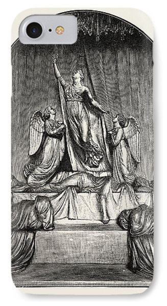 The Princess Charlotte Monument. The Princess Charlotte IPhone Case by Welsh School
