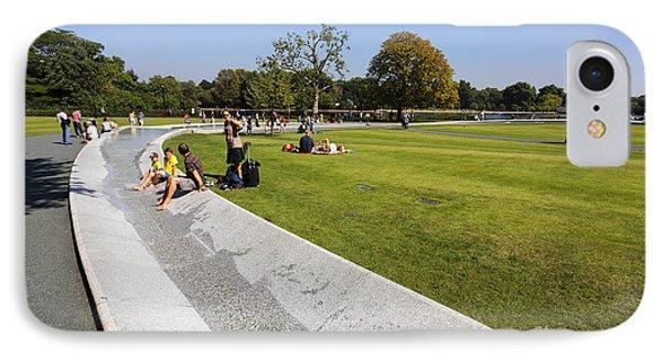 The Princess Diana Memorial Fountain In Hyde Park London England IPhone Case by Robert Preston