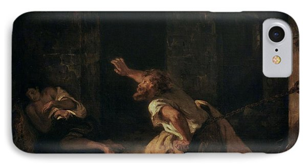 The Prisoner Of Chillon IPhone Case by Ferdinand Victor Eugene Delacroix
