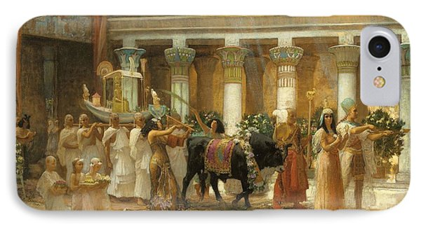 The Procession Of The Sacred Bull IPhone Case by Frederick Arthur Bridgman