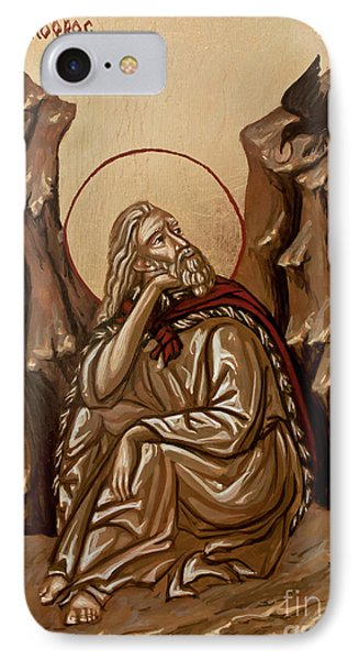 IPhone Case featuring the painting The Prophet Elijah by Olimpia - Hinamatsuri Barbu