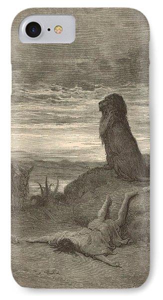 The Prophet Slain By A Lion Phone Case by Antique Engravings