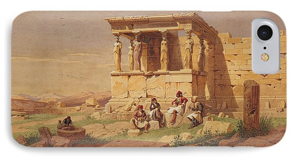 The Prostasis Of The Caryatids On The Erechtheion IPhone Case by Carl Werner