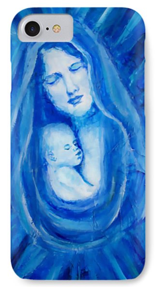 The Protecting Love Of A Mother And Her Child IPhone Case by The Art With A Heart By Charlotte Phillips