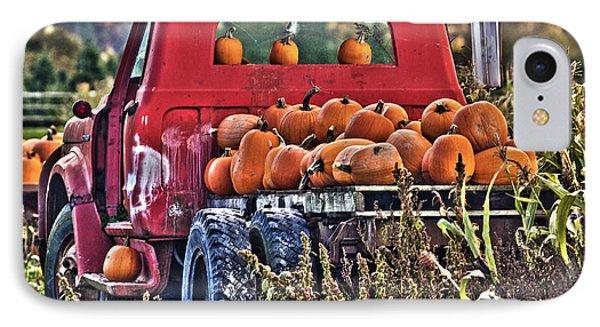 The Pumpkin Hauler IPhone Case by Sonya Lang