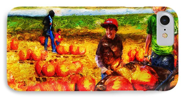 The Pumpkin Patch IPhone Case by Ted Azriel