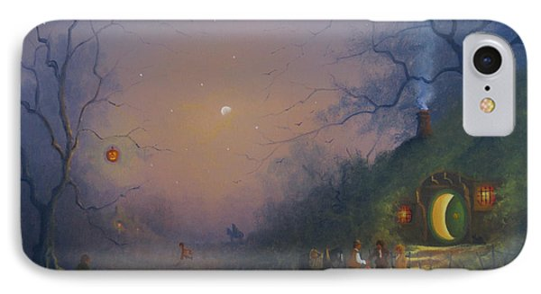 A Hobbits Halloween. The Pumpkin Seller. IPhone Case by Joe Gilronan