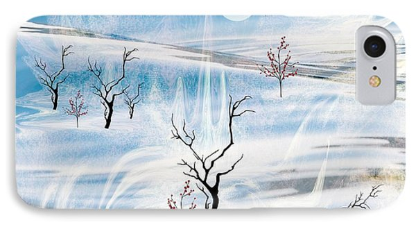 IPhone Case featuring the painting The Purity Of Snow by Sherri  Of Palm Springs