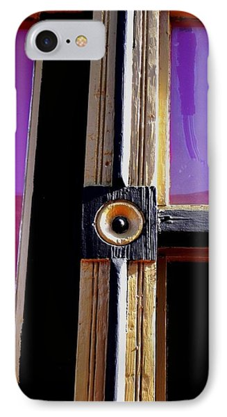 The Purple Door IPhone Case by Peggy Stokes