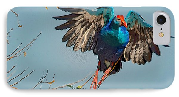 The Purple Swamphen IPhone Case