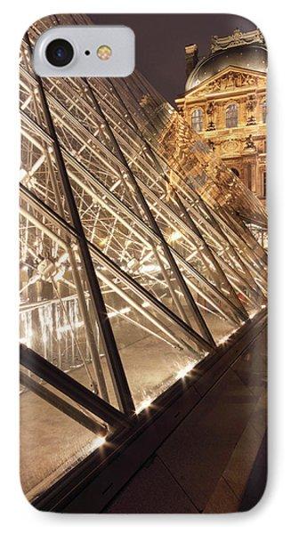 The Pyramide Du Louvre, Paris, France IPhone Case by William Sutton