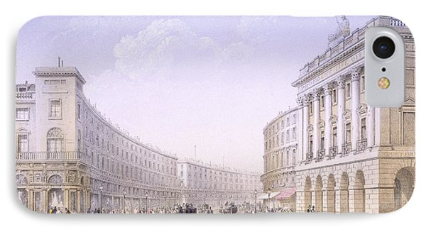 The Quadrant And Regent Street, London IPhone Case by Achille-Louis Martinet