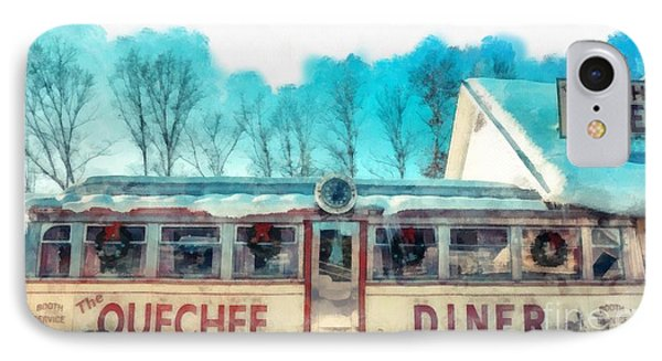 The Quechee Diner Vermont IPhone Case by Edward Fielding