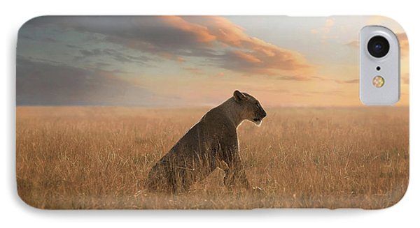 Lion iPhone 7 Case - The Queen by Bjorn Persson