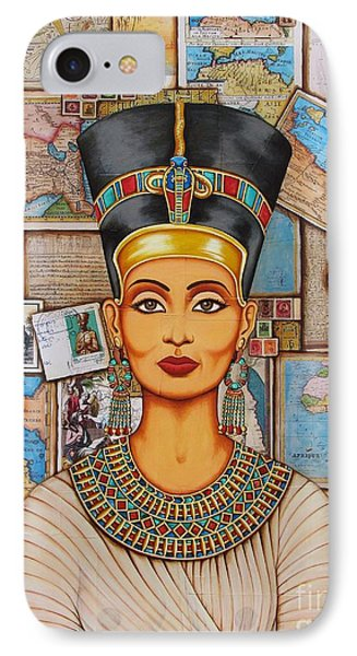 IPhone Case featuring the painting The Queen Of Amarna by Joseph Sonday