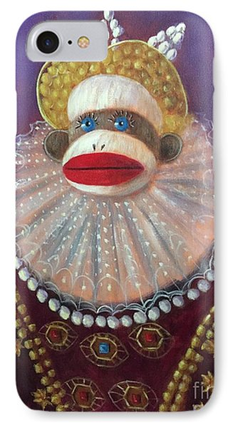 IPhone Case featuring the painting The Proud Queen by Randol Burns