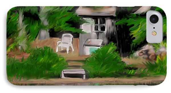 IPhone Case featuring the painting The Quiet At Summers End by Jean Pacheco Ravinski
